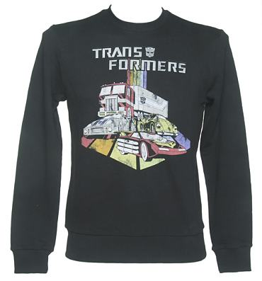 Men's Blackwash Transformers Automobiles Sweater