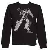 Men's Black Transformers Optimus Prime Silhouette Jumper