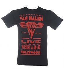 Men's Black Van Halen Live At Whiskey A Go-Go T-Shirt [View details]