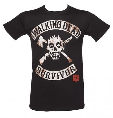 Men's Black Walking Dead Survivor T-Shirt