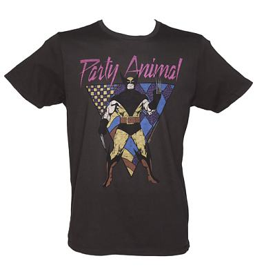 Men's Black Wolverine Party Animal T-Shirt from Junk Food