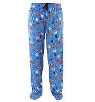 Men's Blue All Over Print Logo Superman Lounge Pants