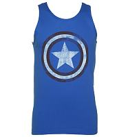 Men's Blue Captain America Vest