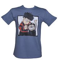 Men's Blue Dennis The Menace And Gnasher Beano T-Shirt