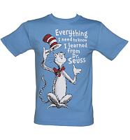 Men's Blue Everything I Need To Know Dr Seuss T-Shirt