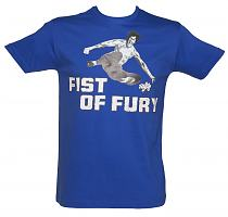Men's Blue Fist Of Fury Bruce Lee T-Shirt