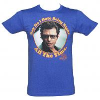 Men's Blue I Hate Being Right Jurassic Park T-Shirt