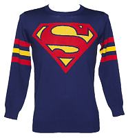 Men's Blue Lightweight Superman Jumper