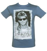 Men's Blue Looking Sharp Pat Sharp T-Shirt from TruffleShuffle
