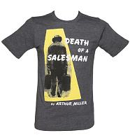 Men's Blue Marl Death Of A Salesman By Arthur Miller T-Shirt from Out Of Print