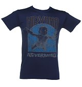 Men's Blue Nirvana Nevermind Album Cover T-Shirt