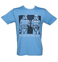 Men's Blue Stormtroopers You get My Text Bro Star Wars T-Shirt from Junk Food