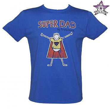 Men's Blue Super Dad Purple Ronnie Vintage T-Shirt