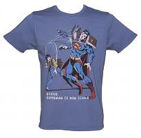 Men's Blue Superman Is Now Single T-Shirt from Junk Food