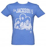 Men's Blue The Jackson 5 Group Photo T-Shirt