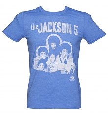 Men's Blue The Jackson 5 Group Photo T-Shirt [View details]