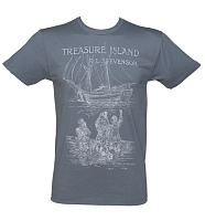 Men's Blue Treasure Island By R. L. Stevenson T-Shirt from Out Of Print
