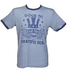 Men's Blue Triblend Good Ol Grateful Dead Ringer T-Shirt from Junk Food [View details]