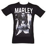 Men's Bob Marley Black &amp; White T-Shirt