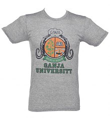 Men's Bob Marley Ganja University T-Shirt from Worn Free [View details]