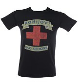 Men's Bon Jovi Bad Medicine Cross T-Shirt