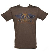 Men's Brown Aerosmith Logo Black Label T-Shirt from Junk Food