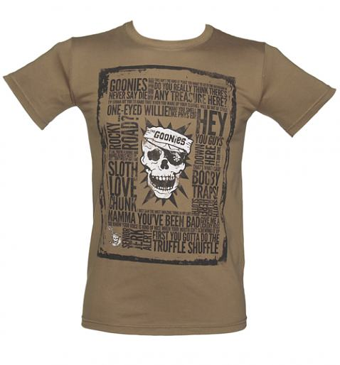 Mens Brown Goonies Quotes TShirt
