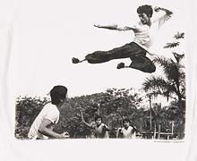 Men's Bruce Lee Flying Kick T-Shirt from Chaser LA