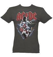 Men's Charcoal AC/DC 1984 Europe Tour T-Shirt from Amplified Vintage