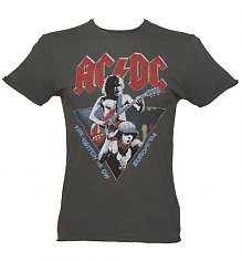Men's Charcoal AC/DC 1984 Europe Tour T-Shirt from Amplified [View details]