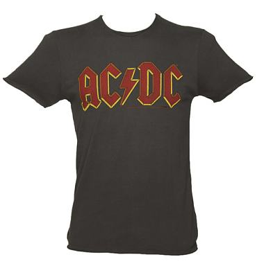 Men's Charcoal AC/DC Logo T-Shirt from Amplified Vintage