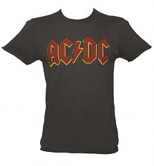 Men's Charcoal AC/DC Logo T-Shirt from Amplified Vintage [View details]