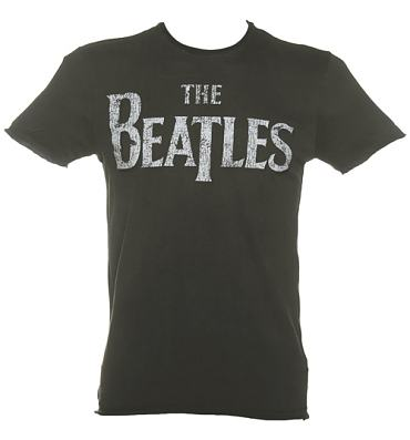 Men's Charcoal Beatles Logo T-Shirt from Amplified Vintage