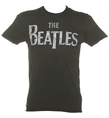 Men's Charcoal Beatles Logo T-Shirt from Amplified Vintage [View details]