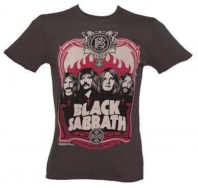 Men's Charcoal Black Sabbath T-Shirt Amplified Vintage