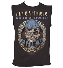 Men's Charcoal Civil War Guns N Roses Sleeveless T-Shirt from Amplified Vintage [View details]