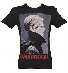 Men's Charcoal David Bowie Fashion T-Shirt from Amplified Vintage [View details]