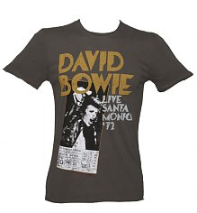 Men's Charcoal David Bowie Santa Monica T-Shirt from Amplified Vintage [View details]
