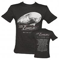 Men's Charcoal Dazed And Confused US Tour 1977 Led Zeppelin T-Shirt from Amplified Vintage