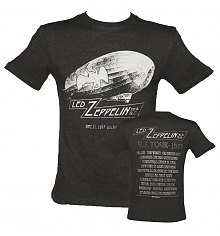 Men's Charcoal Dazed And Confused US Tour 1977 Led Zeppelin T-Shirt from Amplified Vintage [View details]