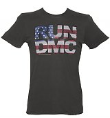 Men's Charcoal Diamante Run DMC T-Shirt from Amplified Vintage