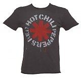 Men's Charcoal Dripping Red Hot Chili Peppers T-Shirt from Amplified Vintage