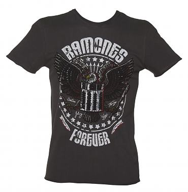 Men's Charcoal Eagle Forever Ramones T-Shirt from Amplified Vintage
