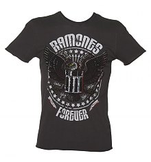 Men's Charcoal Eagle Forever Ramones T-Shirt from Amplified Vintage [View details]