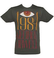 Men's Charcoal George Orwell 1984 T-Shirt from Out Of Print