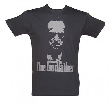 Men's Charcoal Godfather Poster T-Shirt
