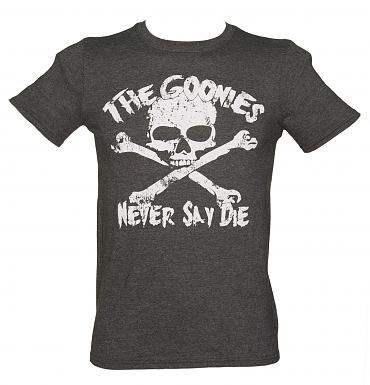 Men's Charcoal Goonies Never Say Die T-Shirt