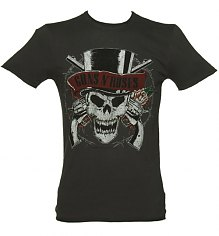 Men's Charcoal Guns N Roses Deaths Hand T-Shirt from Amplified Vintage [View details]