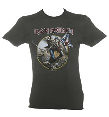 Men's Charcoal Iron Maiden Trooper T-Shirt from Amplified Vintage [View details]