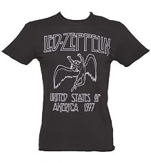 Men's Charcoal Led Zeppelin USA 1977 T-Shirt from Amplified [View details]
